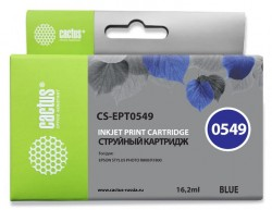 Картридж струйный Cactus CS-EPT0549 синий (16.2мл) для Epson Stylus Photo R800/R1800